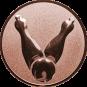 Emblem 25mm Kegel 2, bronze