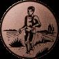 Emblem 25mm Laeufer am See, bronze