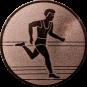Emblem 25mm Laeufer, bronze