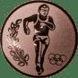 Emblem 25mm Laeufer Olympia, bronze