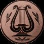 Emblem 25mm LYRA, bronze