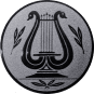 Emblem 25mm LYRA, silber