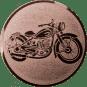 Emblem 25mm Motorrad, bronze