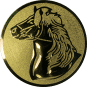 Emblem 25mm Pferd, gold