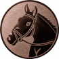 Emblem 25mm Pferdekopf, bronze