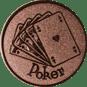 Emblem 25mm Poker, bronze