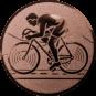 Emblem 25mm Rennrad, bronze