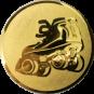 Emblem 25mm Rollschuh, gold