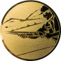 Emblem 25mm Schütze m. Schrotflinte, gold schießen
