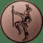 Emblem 25mm Tambourmajor, bronze