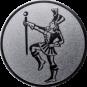 Emblem 25mm Tambourmajor, silber