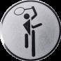Emblem 25mm Tennis Symbol, silber