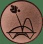 Emblem 25mm Trampolin, bronze