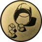 Emblem 25mm Würfelbecher, gold
