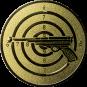Emblem 25mm Zielsch. mit Pistole, gold schießen