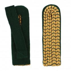 Schulterstücke mit farbigem National gold