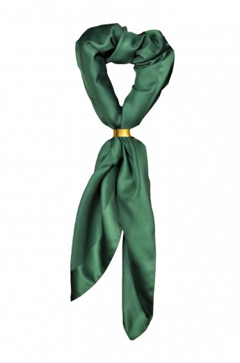 Damenhalstuch dunkelgrün