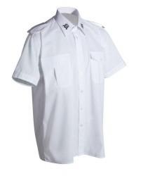 Schützenhemd - Kurzarm mit Stickemblem auf Kragen