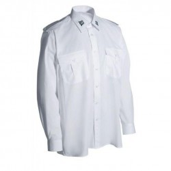 Schützenhemd - Langarm mit Stickemblem auf Kragen