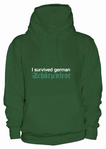 """Hoodie """"I survived german Schützenfest"""" - Damen"""