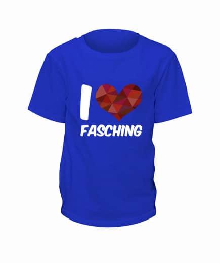 "T-Shirt ""I Love Fasching"" - Kinder"