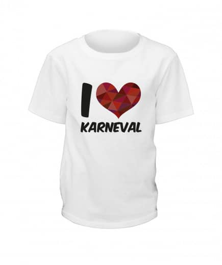 "T-Shirt ""I Love Karneval"" - Kinder"