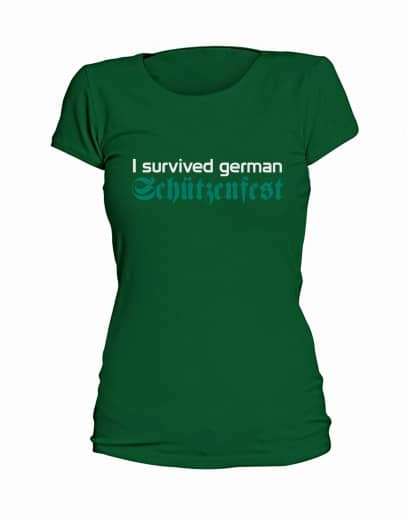 "T-Shirt ""I survived german Schützenfest"" - Damen"