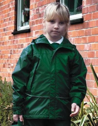 Kinder-Regenjacke dunkelgrün | S (5-6)