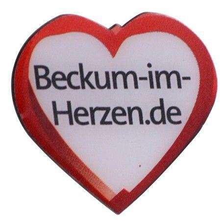 """Pins Offsetdruck """"Beckum-Herzen"""""""