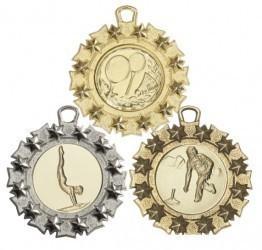 """Medaille """"Pella"""" Ø 45mm mit Wunschemblem und Band"""