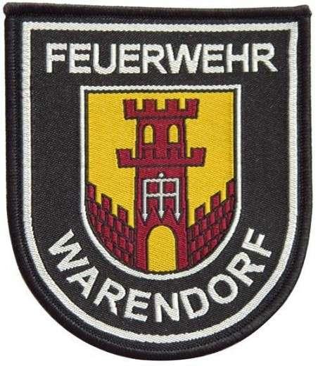 """Stickabzeichen - Aufnäher """"Feuerwehr Warendorf"""""""