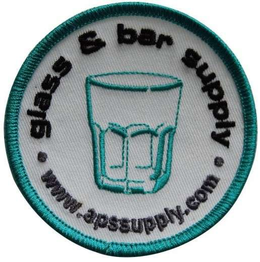 "Stickabzeichen - Aufnäher individuell ""glass & bar"""