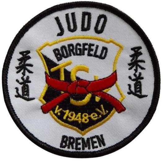 """Stickabzeichen - Aufnäher """"Judo Bremen"""""""