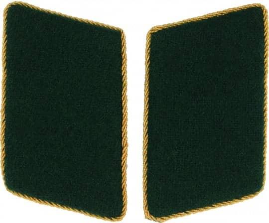 Kragenspiegel schützengrün