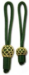 Eichel grün mit goldenem Kopf