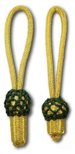 Eichel gold mit grünem Kopf