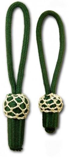 Eichel grün mit silbernem Kopf