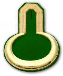 Epauletten gold mit grünem Filz