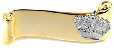 Broschennadel vergoldet mit Krone