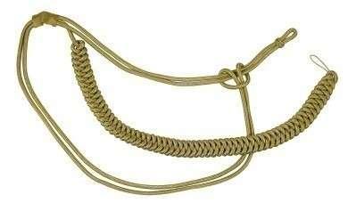Fangschnur gold 1 Breitgeflecht und 2 Schlingen