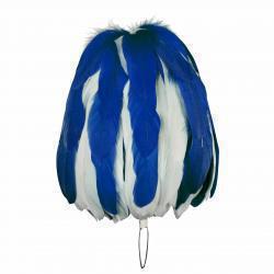 Federbusch blau-weiß mixed mit 90 oder 120 Bahnen