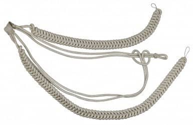 Fangschnur silber 2 Breitgeflechte und 2 Schlingen