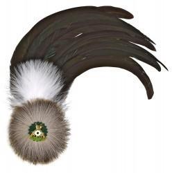 Hahnenschlappe - Schützenfeder mit 12 langen Federn + Flaum