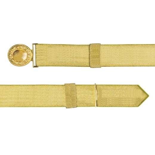 Feldbinde mit goldener Tresse gelb   80-100cm   ohne Schützenemblem