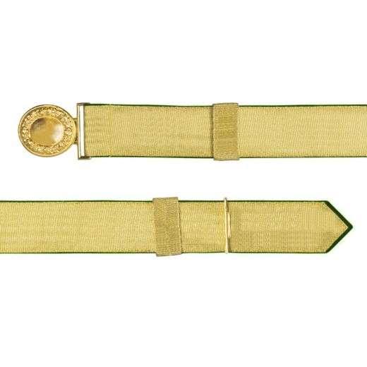 Feldbinde mit goldener Tresse grün | 80-100cm