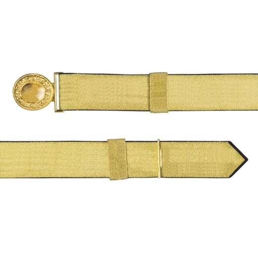 Feldbinde mit goldener Tresse schwarz | 80-100cm
