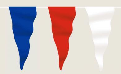 Wimpelkette blau-weiß-rot aus Stoff (Meterware)