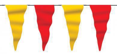 Wimpelkette rot-gelb aus Stoff (Meterware)