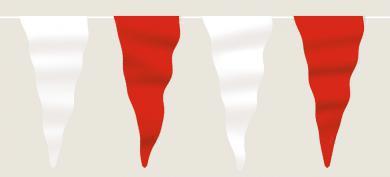 Wimpelkette rot-weiß aus Stoff (Meterware)