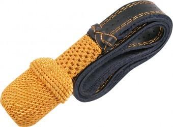 Portepee gold mit schwarzem Lederriemen